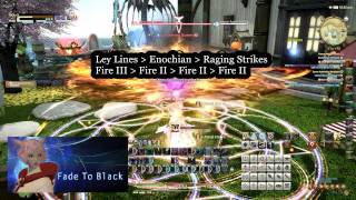 FFXIV - Black Mage 60 - How to start a battle.