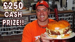 7lb Belly Buster Burger Challenge at Man vs Food London!!