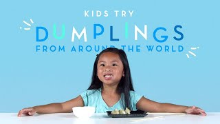 Kids Try Dumplings from Around the World | Kids Try | HiHo Kids