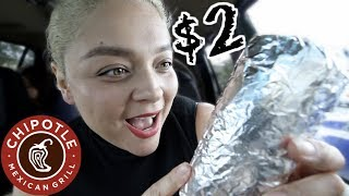 $2 CHIPOTLE BURRITO HACK!!!