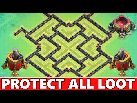 Clash Of Clans   NEW Town Hall 9 Farming Base Defense! Protect All Your Loot! CoC TH9 2015!