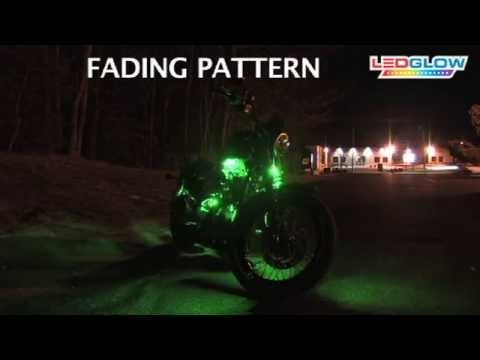 Green LED Flexible Motorcycle Lighting Kit