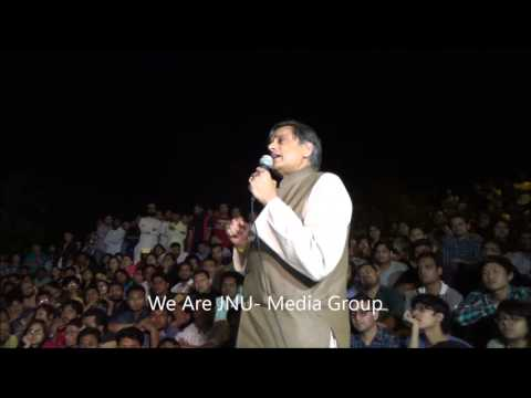 Shashi Tharoor speaking at JNU on JNU and Nationalism 20th March
