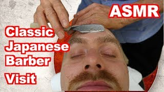 Classic 床屋さん Japanese Barbershop - Cut & Shave [ASMR] - Handheld DSLR