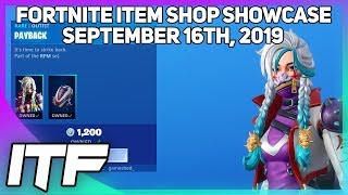 Fortnite Item Shop *NEW* PAYBACK SET! [September 16th, 2019] (Fortnite Battle Royale)