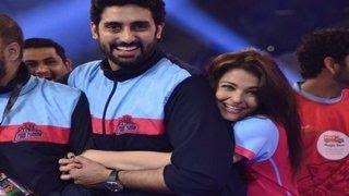 Aishwarya Rai Bachchan & Abhishek Bachchans PDA moment @ Pro Kabbadi League 2014 FINALS!
