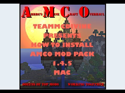 How To Install Mods: AMCO Mod Pack MAC 1.5