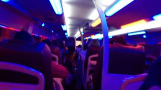 Disco sleeping bus Hoi An to Hue Vietnam