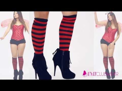 Red 5 Pc Sexy Ladybug video