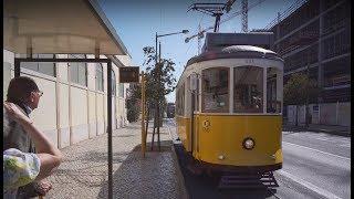 Portugal, Lisbon, tram 15 ride from Avenida 24 de Julho to Calvário