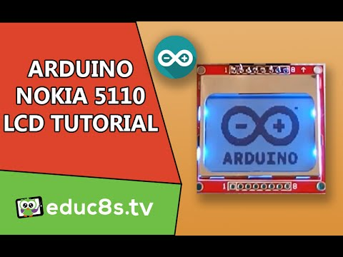 Arduino Tutorial: Nokia 5110 84x48 LCD display. how to drive with Arduino