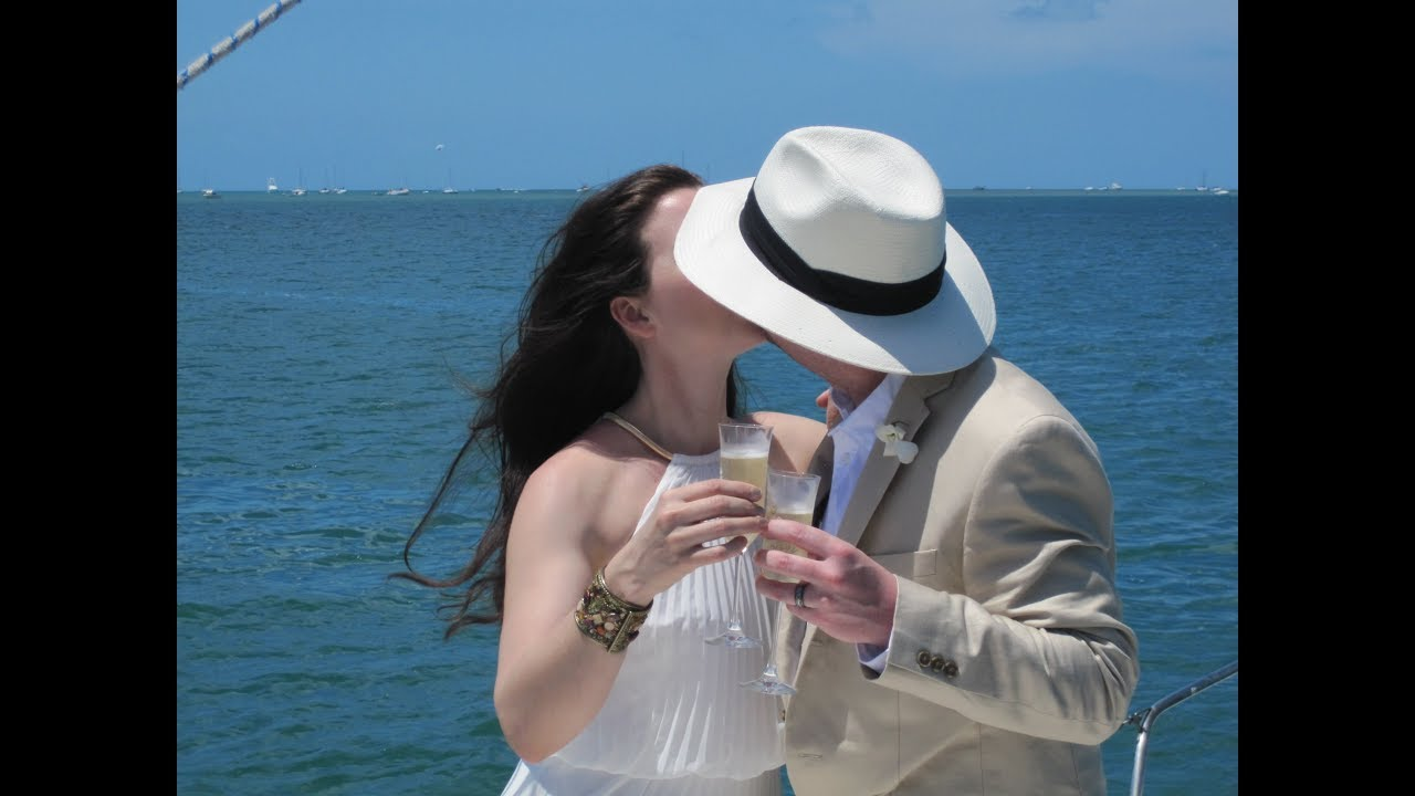 Open Sunset Wedding At Sea Charter Video