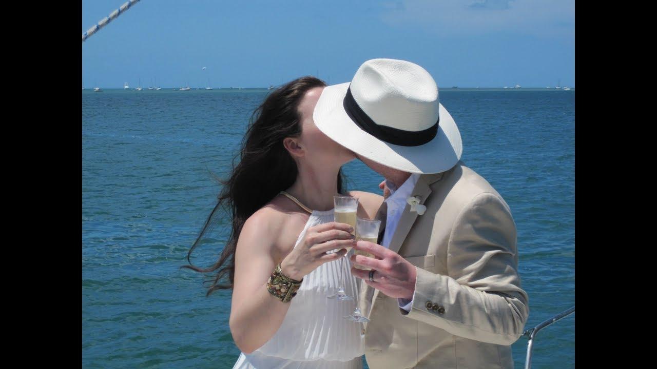 Open Sunset Wedding At Sea Charter Video