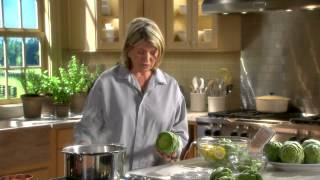 Preparing Artichokes - Martha Stewarts Cooking School