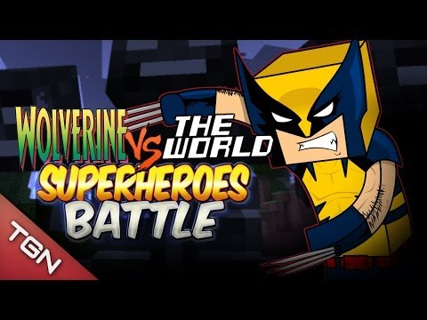 WOLVERINE VS THE WORLD  - SUPER HEROES BATTLE - Minecraft Arena