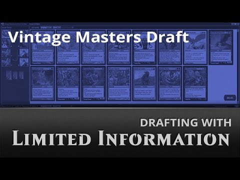 Drafting with Limited Information: Vintage Masters