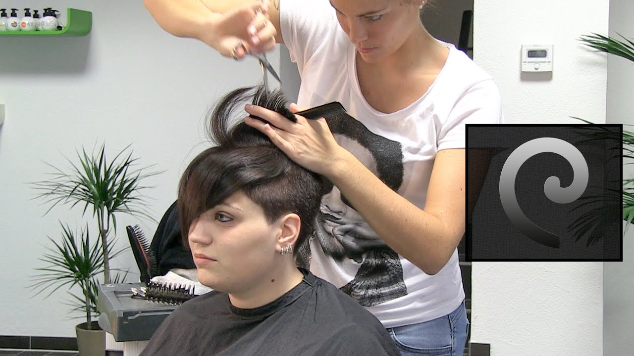 extreme pixie undercut hair makeover, buzzcut haircut women at die ...