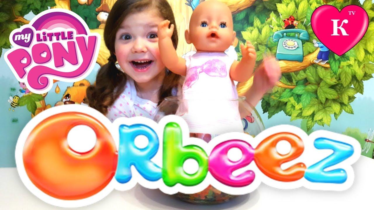 Кукла Беби Борн ищет сюрпризы в шариках ОРБИЗ Май литл пони ORBEEZ Surprise My Little Pony
