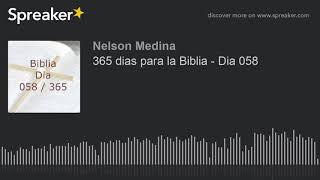 365 dias para la Biblia - Dia 058