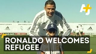 Cristiano Ronaldo Meets Tripped Syrian Refugee Boy