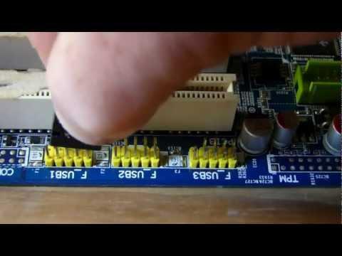 Hook up fan to motherboard