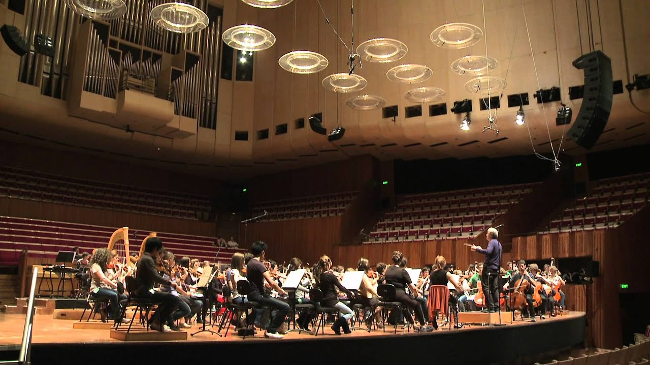 The australian youth orchestra at the sydney opera house for Orchestra house