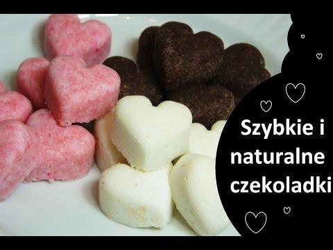 Zdrowe CZEKOLADKI -pyszne Walentynkowe - RAW