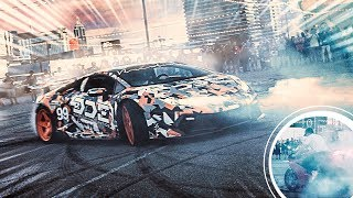 Lamborghini Owner Wreaks Havoc and Does Wild Stunts at Car Meet !!!