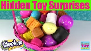 Giant Basket Of Surprise Eggs Opening | Shopkins Squinkies Disney Fashems My Little Pony | PSToyRevi