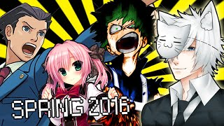 Spring 2016 Anime Season: What Will I Be Watching?