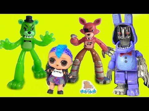 #ФНАФ! Мангл спасатель Куклы Лол Панки FNAF Видео для детей! Мультики с игрушками - My Toys Potap