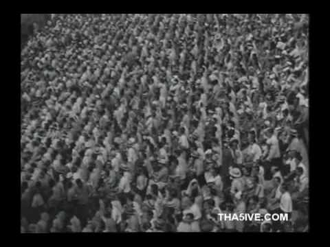 Babe Ruth vs Walter Johnson - 1942 Benefit Game Newsreel Video