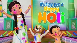 Holi Song | Kannada Rhymes for Children | Infobells