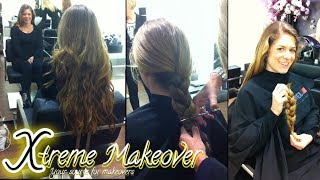 Cutie chops her long and thick braid off!