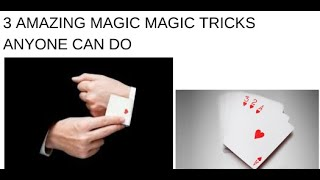 3 Amazing Magic Tricks Anyone Can Do!!! | Be Box