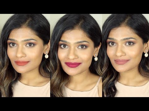 Current Favorite Fall 2018 Lipsticks for Tan/Medium/Brown/Warm Skintones | Nishitha Vunnam