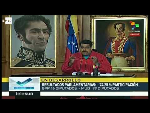 """Nicolás Maduro: Reconocemos estos """"resultados adversos"""""""
