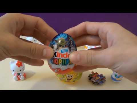 15 surprise eggs! HELLO KITTY surprise eggs SpongeBob surprise egg Kinder surprise STAR WARS!