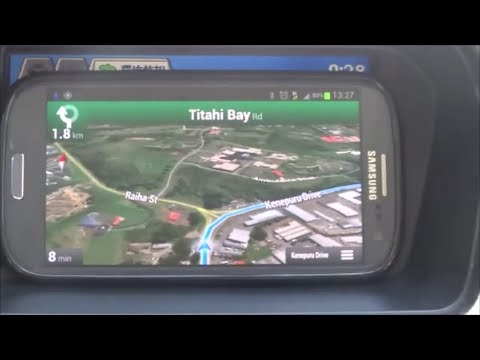Samsumg Galaxy S3 GT-I9300 Navigation GPS Test Driving