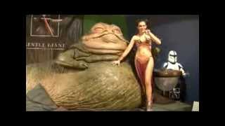Alicia Arden as Slave Leia at Gentle Giant Studios #3 Cosplay