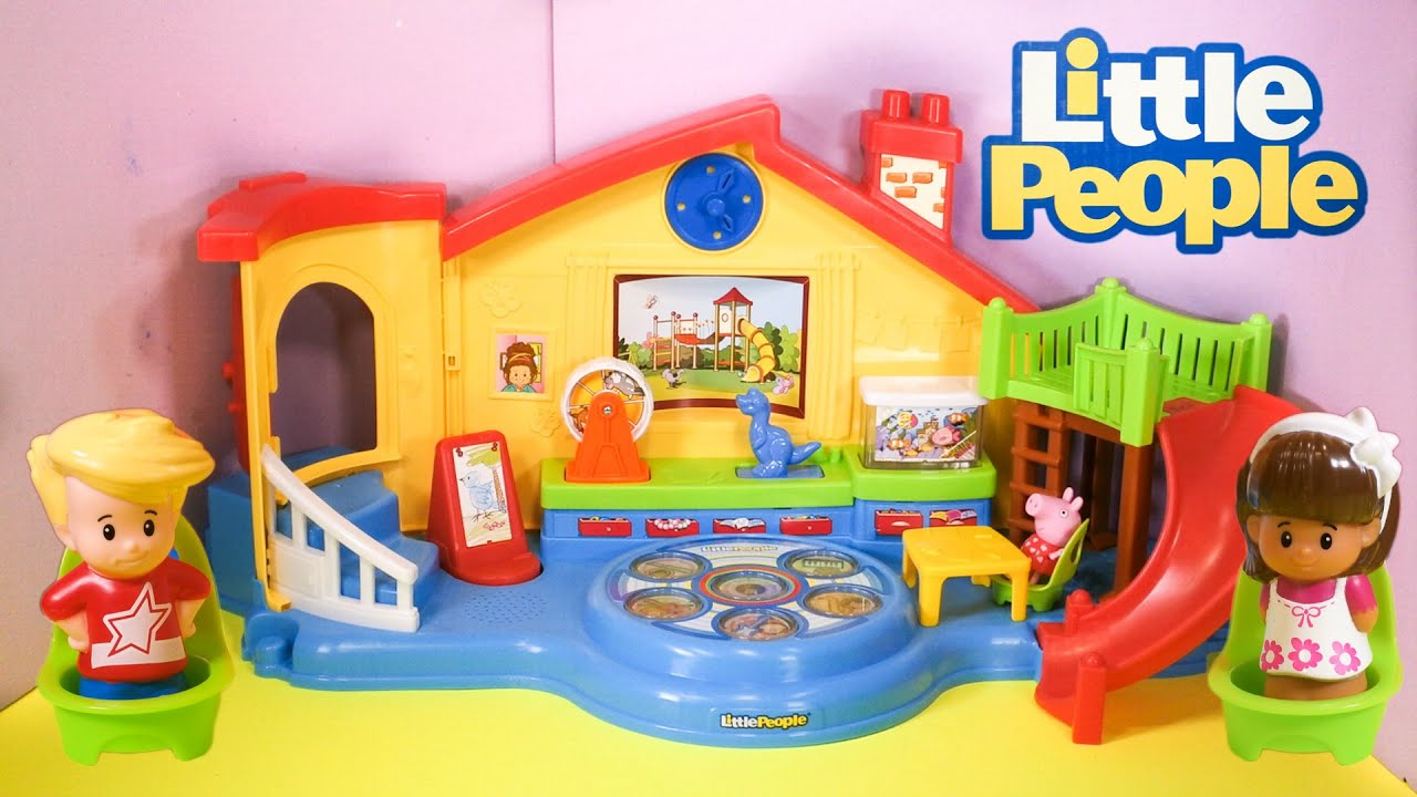 LITTLE PEOPLE Fisher Price Little People Musical Preschool a Little People Video Toy Review ...