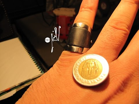 Making a ring from an Egyptian pound