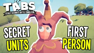 TABS - NEW! SECRET UNITS and FIRST PERSON - Jester, Vlad, Ullr - Totally Accurate Battle Simulator