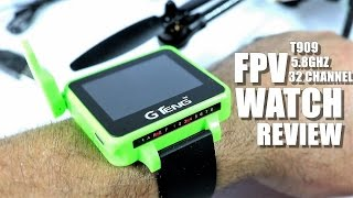 GTENG T909 FPV Watch Review - [UnBox, Inspection, Setup] 5.8ghz, 32 Channels