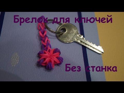 Лохматый брелок из резинок Rainbow Loom - YouTube