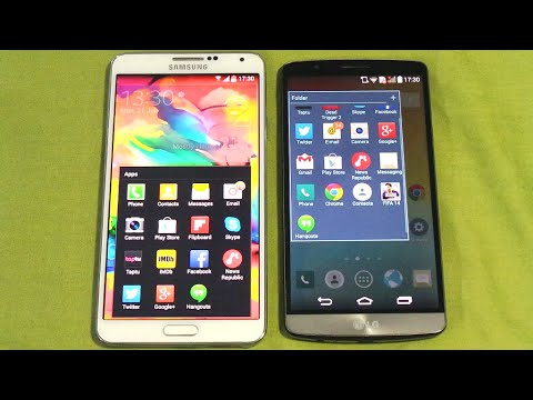 LG G3 VS SAMSUNG GALAXY NOTE 3 OPENING APPS & MULTITASKING SPEED COMPARISON