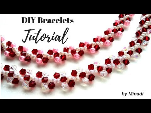 Simple and easy beaded bracelets.  Easy tutorial for beginners.  DIY gift idea