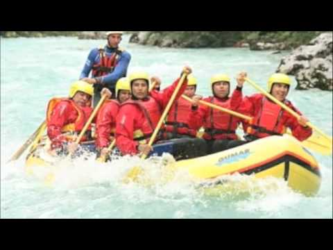 RAFTING SLOVENIA MOTO TOUR EUROPA 2009 part 1