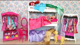 Barbie Rapunzel Little Mermaid Ariel Bunk Bed Morning Routine Breakfast at McDonalds