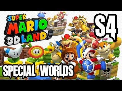 Super Mario 3D Land Gameplay Walkthrough - SPECIAL WORLD 4!! (3DS Gameplay HD)